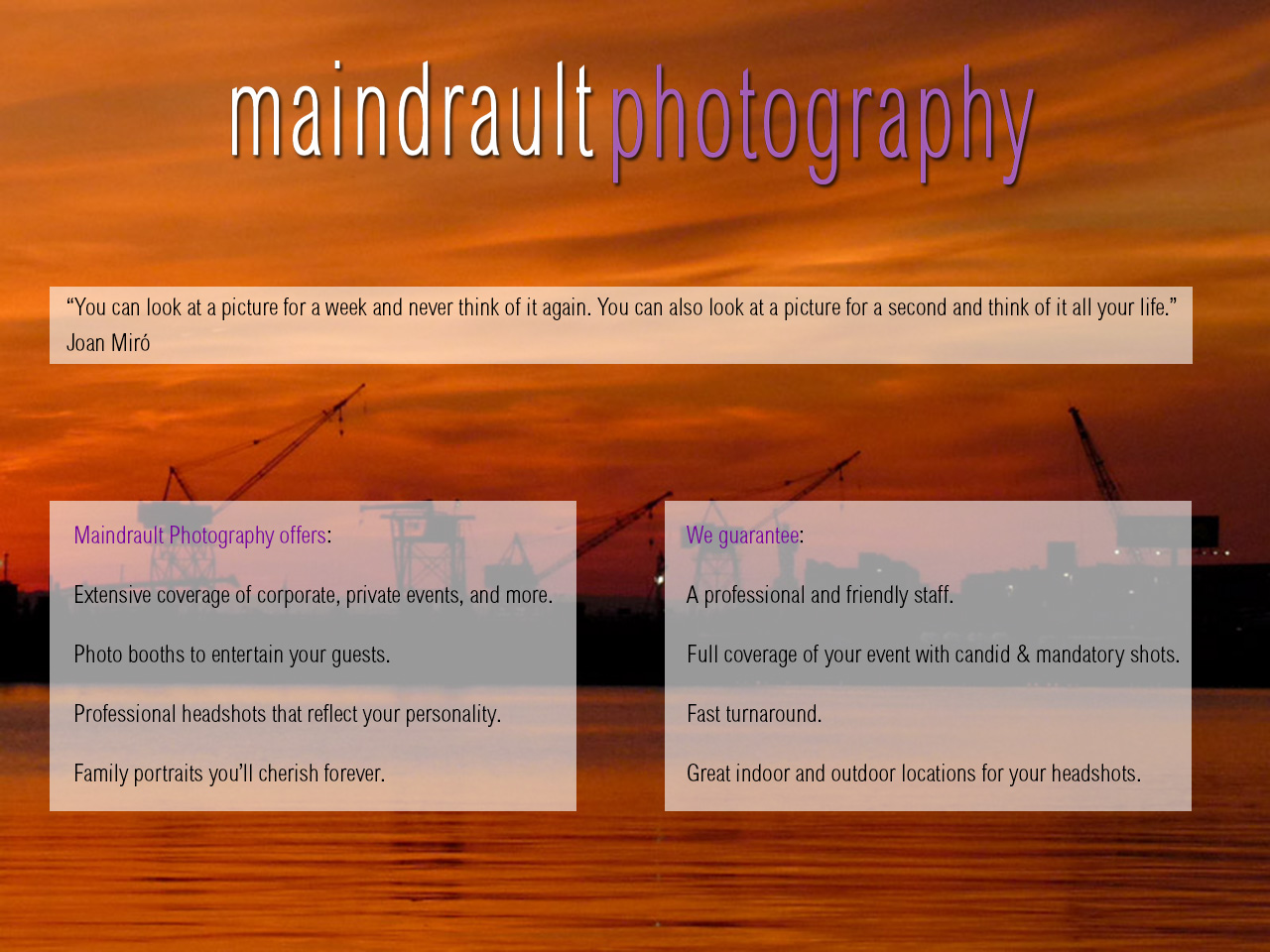 Maindrault Photography – Headshots, portraits and event